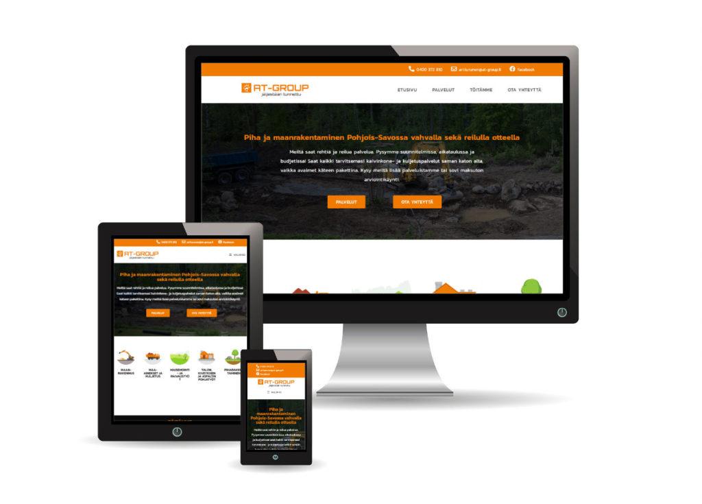 At-Groupin verkkosivut