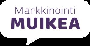 Markkinointi Muikean logo, vaalea versio