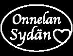Onnelan Sydämen logo, valkoinen versio
